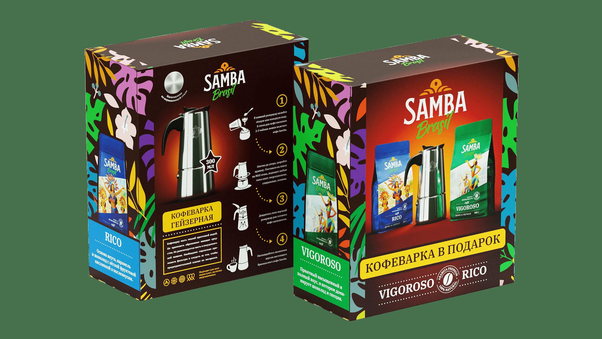Кофеварка samba гейзерного типа